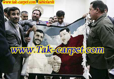 هدیه دکتر احمدی نژاد تابلو فرش تک